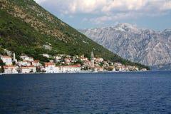De stad van Perast Montenegro royalty-vrije stock fotografie