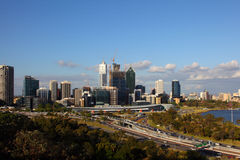 De Stad van Perth Stock Fotografie