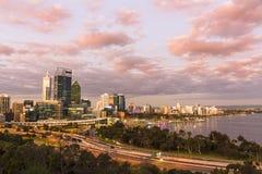 De Stad van Perth Royalty-vrije Stock Foto's