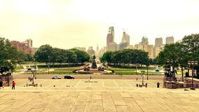 De Stad van Philadelphia mag Zonnig Stock Foto