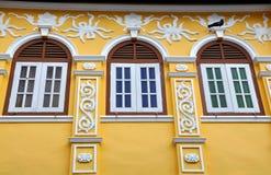 De Stad van Phuket, Thailand: Het herstelde Chinese Huis van de Winkel Stock Foto's
