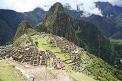 De stad van Picchu Inca van Machu, Peru. Stock Afbeelding