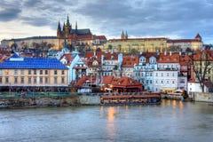 De Stad van Praag Stock Foto's