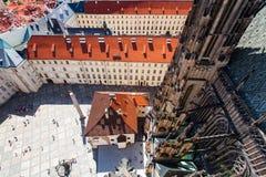 De stad van Praag Tsjechische Republiek europa stock foto