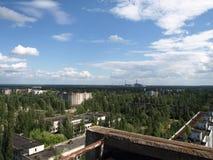 De stad van Pripyat Stock Foto