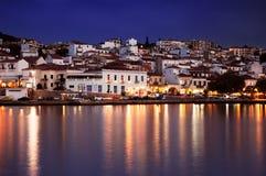 De stad van Pylos, Griekenland stock afbeelding