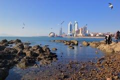 De stad van Qingdao stock foto's