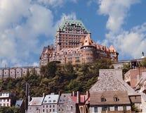 De Stad van Quebec Stock Afbeeldingen