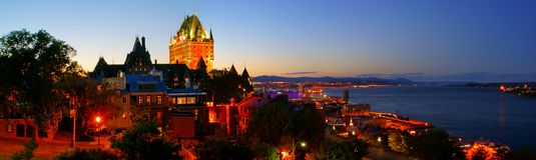 De Stad van Quebec Stock Foto's