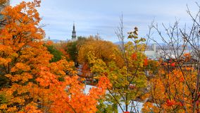 De stad van Quebec in Canada, de herfsttijd royalty-vrije stock fotografie