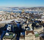 De Stad van Quebec in de winter Royalty-vrije Stock Foto's