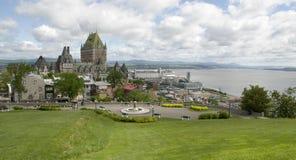 De Stad van Quebec en dokken, Canada Stock Afbeeldingen