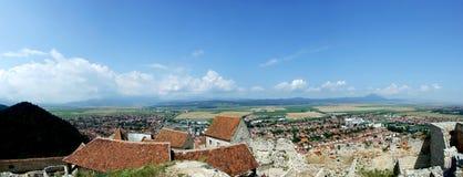 De stad van Rasnov royalty-vrije stock afbeelding