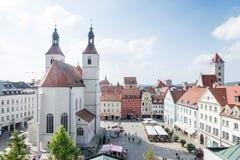 De Stad van Regensburg Royalty-vrije Stock Afbeeldingen