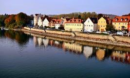 De stad van Regensburg in Duitsland stock foto