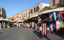 De Stad van Rhodos Stock Afbeelding