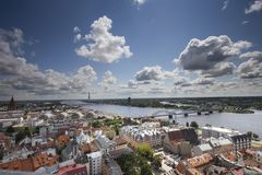 De stad van Riga Stock Foto