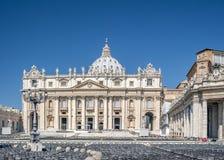 De Stad van Rome, Vatikaan, St Peter Basiliek Stock Fotografie