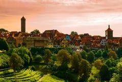 De stad van Rothenburg Stock Afbeelding