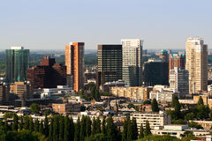 De stad in van Rotterdam Stock Afbeeldingen