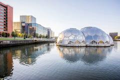 De stad van Rotterdam in Nederland Stock Foto's