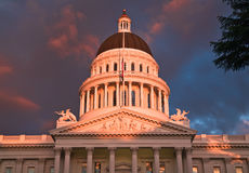 De Stad van Sacramento Californië stock afbeeldingen