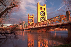 De Stad van Sacramento Californië stock foto's