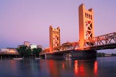 De Stad van Sacramento Californië stock foto