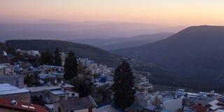 De stad van Safed in noordelijk Israël Royalty-vrije Stock Fotografie