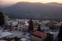De stad van Safed in noordelijk Israël Royalty-vrije Stock Foto