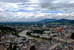 De stad van Salzburg Royalty-vrije Stock Afbeeldingen