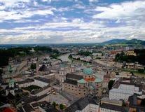 De stad van Salzburg Stock Afbeeldingen
