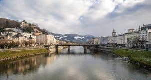 De stad van Salzburg, Oostenrijk, Europa Stock Afbeelding