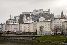 De stad van Salzburg, Oostenrijk, Europa Royalty-vrije Stock Fotografie
