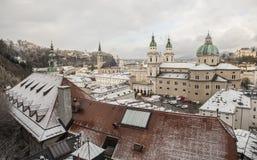 De stad van Salzburg, Oostenrijk, Europa Royalty-vrije Stock Foto
