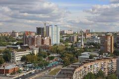 De stad van Samara in de zomer Royalty-vrije Stock Fotografie