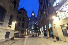 De stad in van Santiago, Chili Royalty-vrije Stock Afbeeldingen