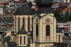 De stad van Sarajevo van de culturen van het oosten en van het westen stock afbeelding