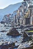 De stad van Scilla in de Provincie van Reggio Calabrië, Italië stock foto's