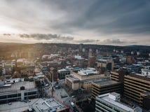 De stad van Sheffield stock afbeeldingen