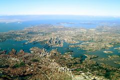 De stad van Sidney stock fotografie