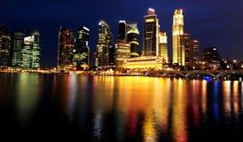 De Stad van Singapore Stock Foto