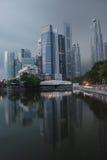 De stad van Singapore in de Ochtend Stock Fotografie