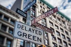 De Stad van SOHO New York Stock Afbeeldingen