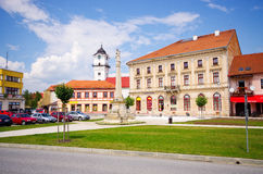 De stad van Spisskepodhradie, Slowakije royalty-vrije stock foto's