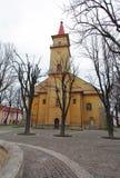 De stad van Staralubovna - Slowakije stock afbeeldingen