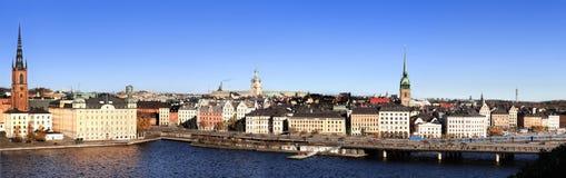 De stad van Stockholm royalty-vrije stock foto's