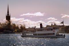 De stad van Stockholm stock afbeeldingen