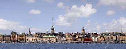 De stad van Stockholm Stock Foto