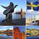 De Stad van Stockholm stock afbeelding